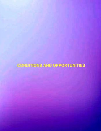 Conditions and opportunities30